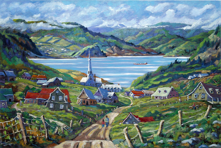 Sale Painting - Charlevoix Scene by Richard T Pranke