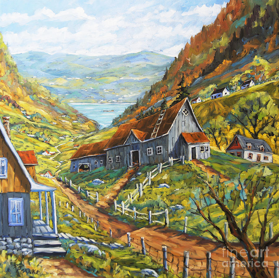 Landscape Painting - Charlevoix Valley By Prankearts by Richard T Pranke