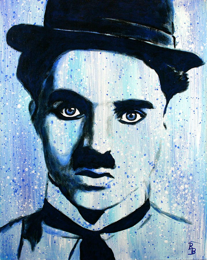 Charlie Chaplin Little Tramp Portrait by Bob Baker