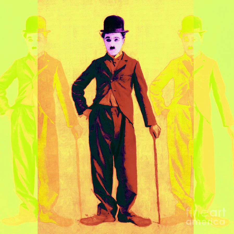 Celebrity Photograph - Charlie Chaplin The Tramp Three 20130216p30 by Wingsdomain Art and Photography