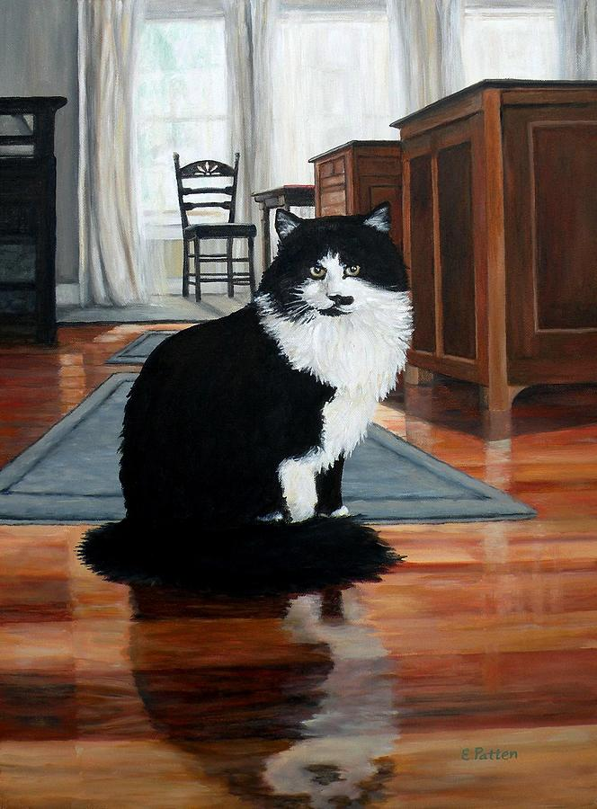 Cat Painting - Charlie by Eileen Patten Oliver