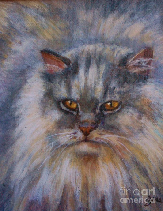 Cat Painting - Charlie by Jana Baker
