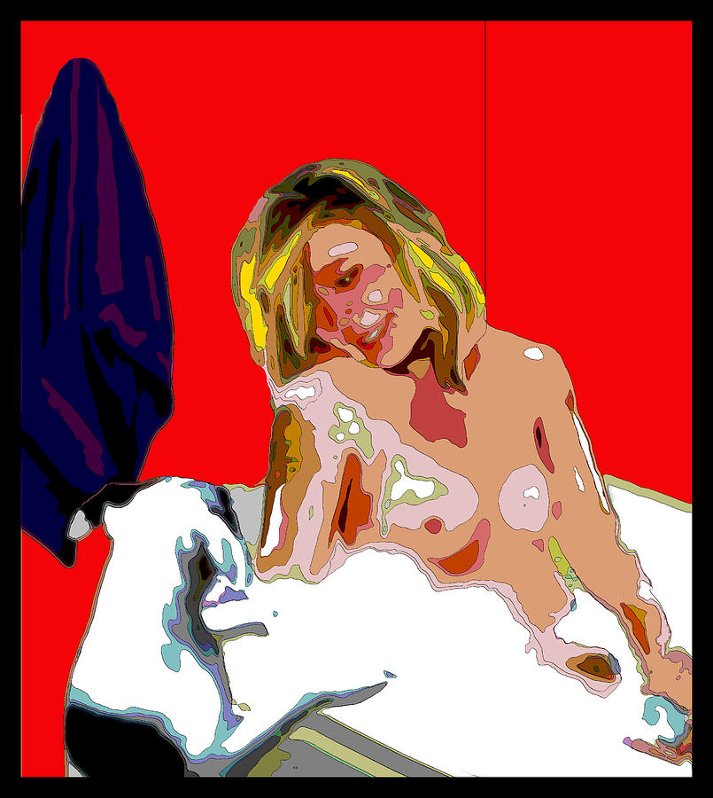 Nude Digital Art - Charlie Wants A Bath by Jann Paxton