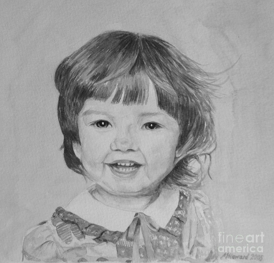 Charlotte Painting - Charlotte B/w by Martin Howard
