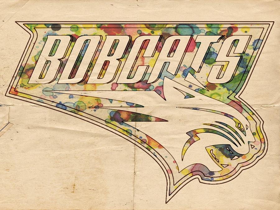 Charlotte Bobcats Painting - Charlotte Bobcats Vintage Poster by Florian Rodarte