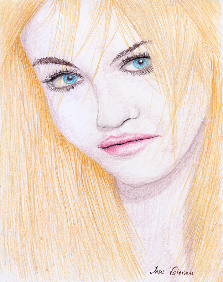 Charlotte Free Drawing - Charlotte Free by M Valeriano