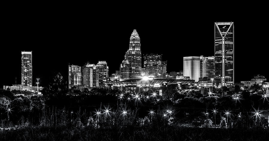 Charlotte Photograph - Charlotte Night by Chris Austin