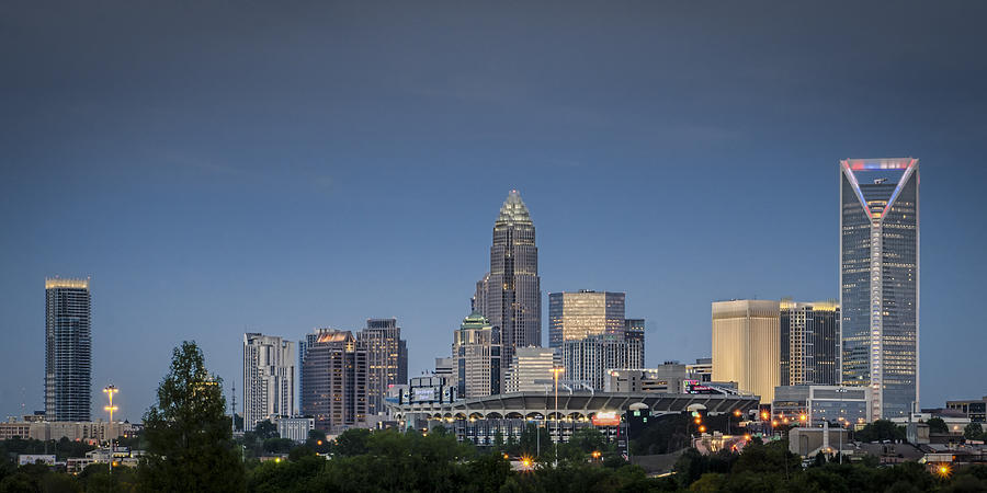 Charlotte Photograph - Charlotte Skyline - Clear Evening by Brian Young