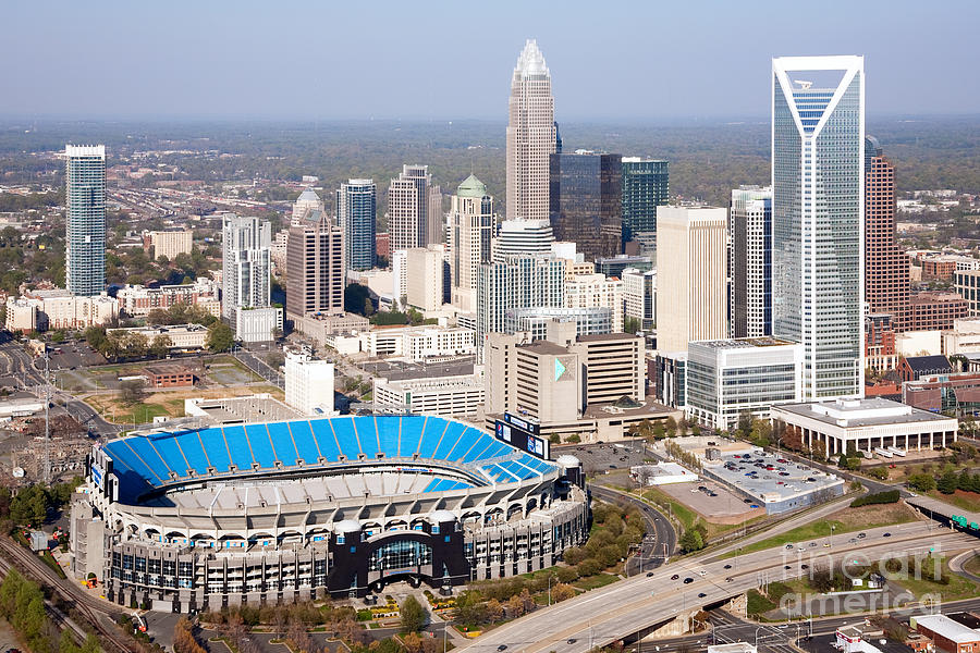 Charlotte Skyline With Bank Of America Stadium Photograph