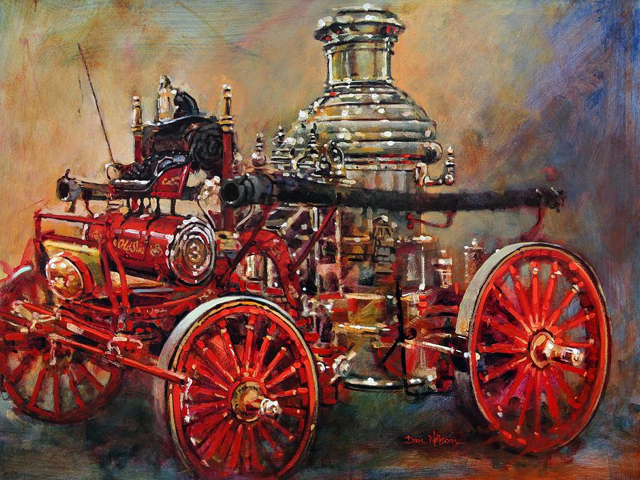 Steamer Painting - Charlotte Steamer by Dan Nelson