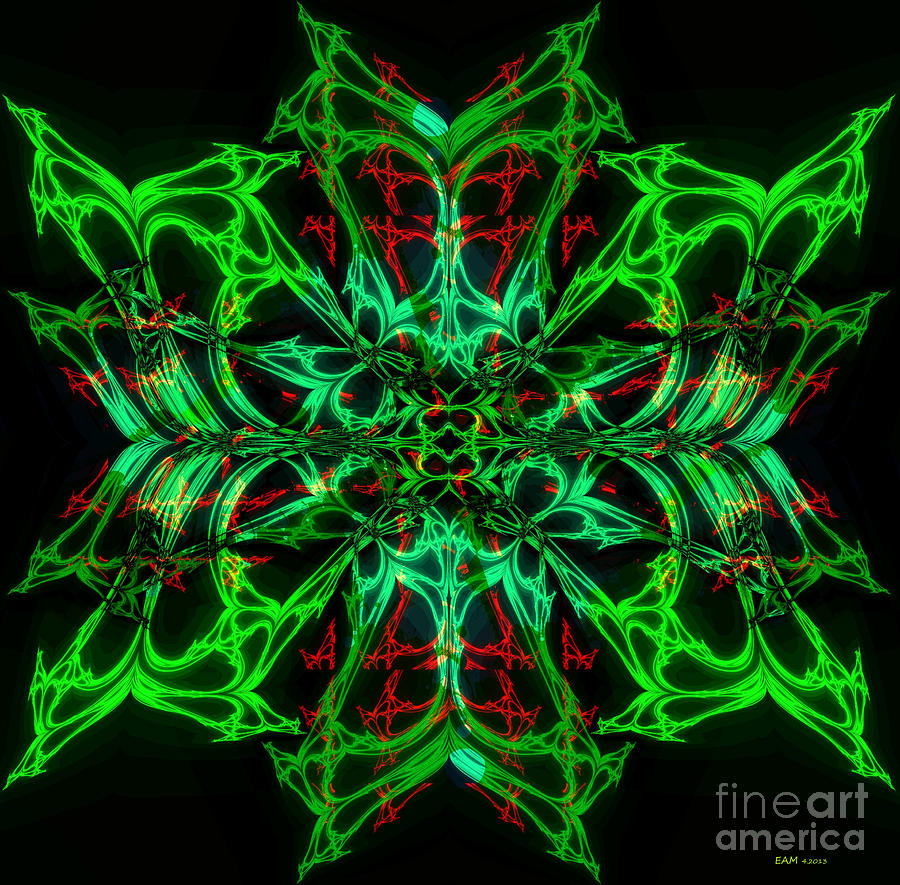 Imagery Digital Art - Charlottes New Freakin Awesome Neon Web by Elizabeth McTaggart