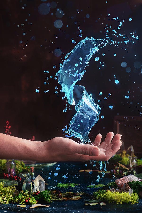 Hand Photograph - Charm Of Clear Water by Dina Belenko