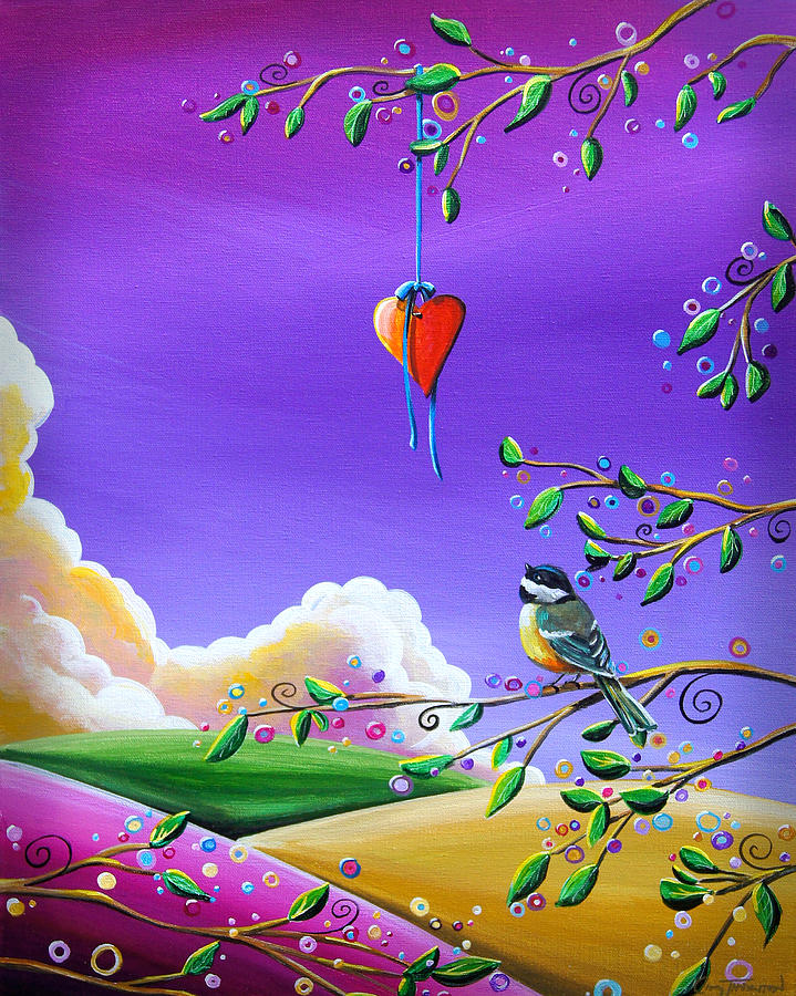 Chickadee Painting - Cherish by Cindy Thornton