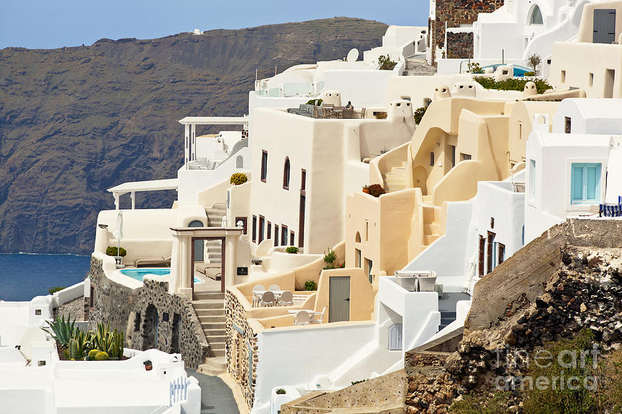 Charming Hotels In Santorini Photograph By Aiolos Greek