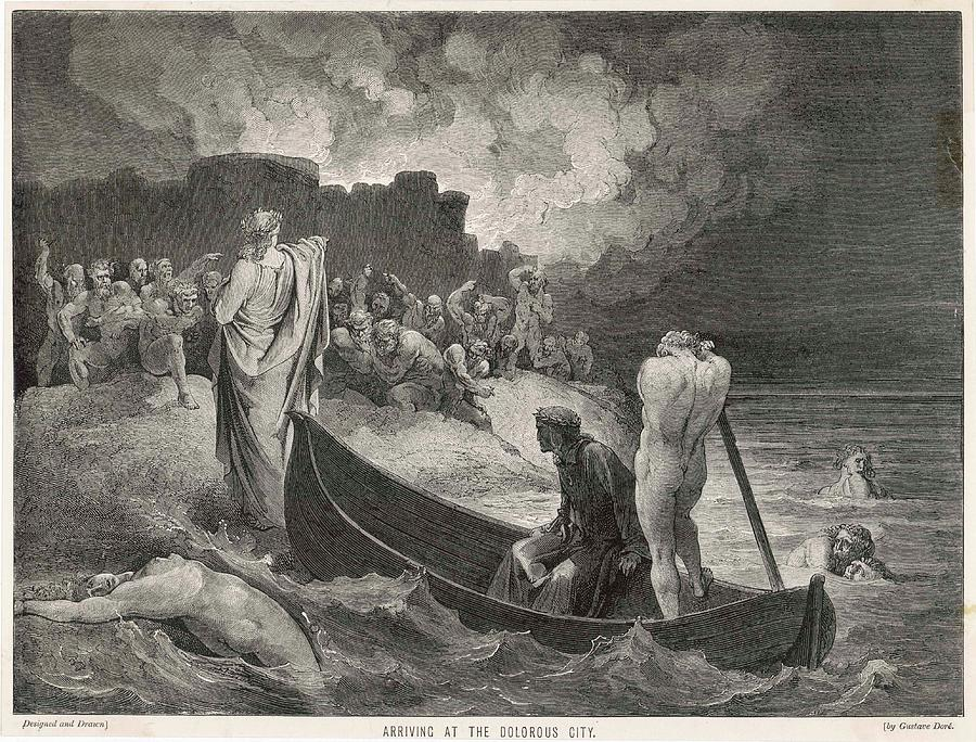 Charon Ferries Dante And Virgil
