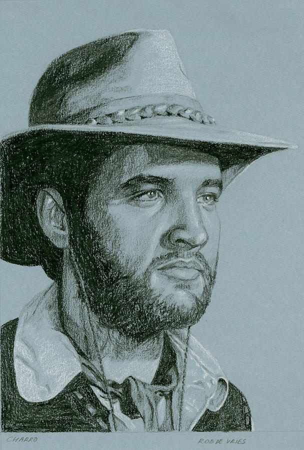 Elvis Drawing - Charro by Rob De Vries