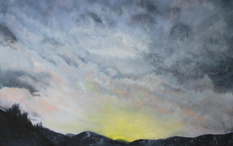 Sunrise Painting - Chase Away The Dark by Jane Autry