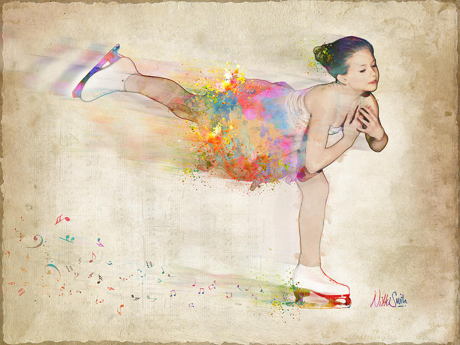 Ice Skater Digital Art - Chase Your Dreams by Nikki Smith
