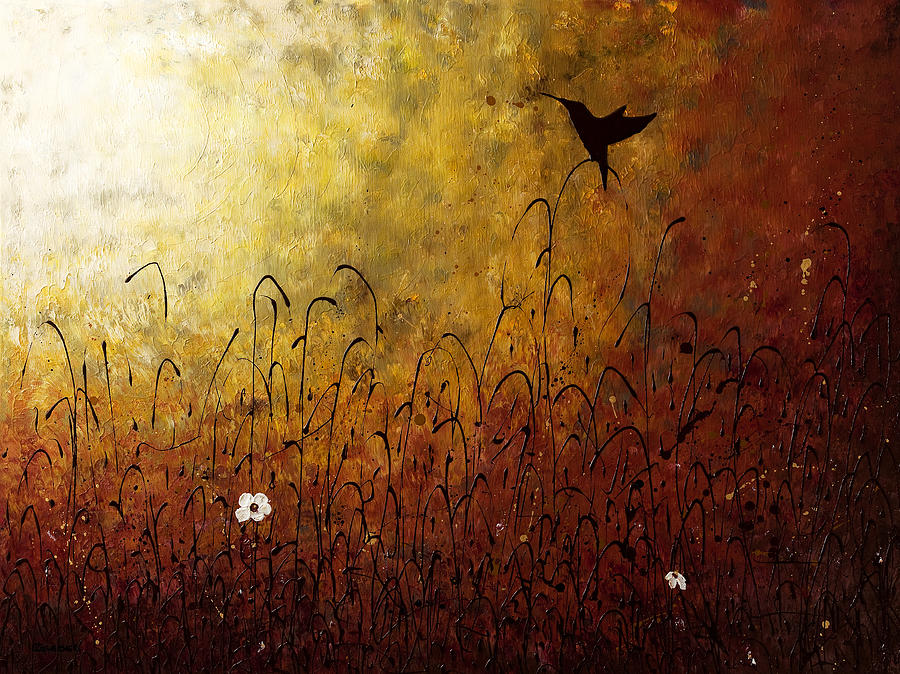 Abstract Painting Painting - Chasing The Light by Carmen Guedez