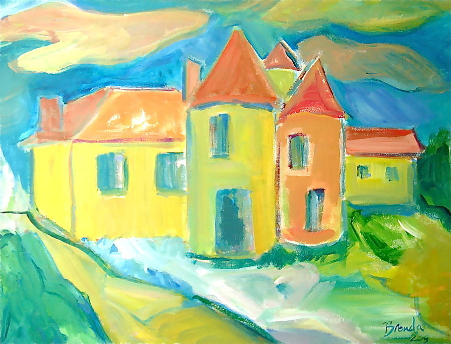 Landscape Painting - Chateau by Brenda Ruark