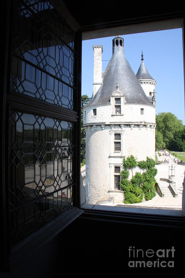 Tower Photograph - Chateau Chenonceau Tower Through Open Window  by Christiane Schulze Art And Photography