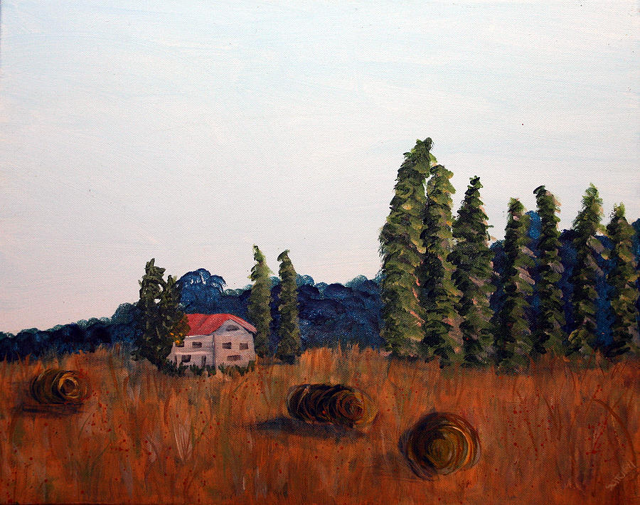 Landscape Painting - Chateau Deauville by Maura Satchell