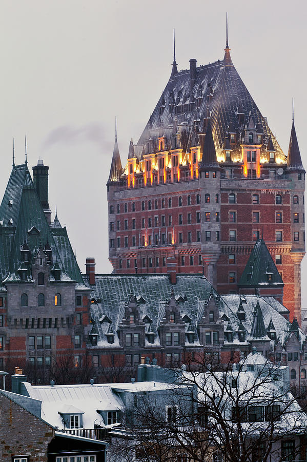 Snow Photograph - Chateau Frontenac In Winter by Doug Mckinlay
