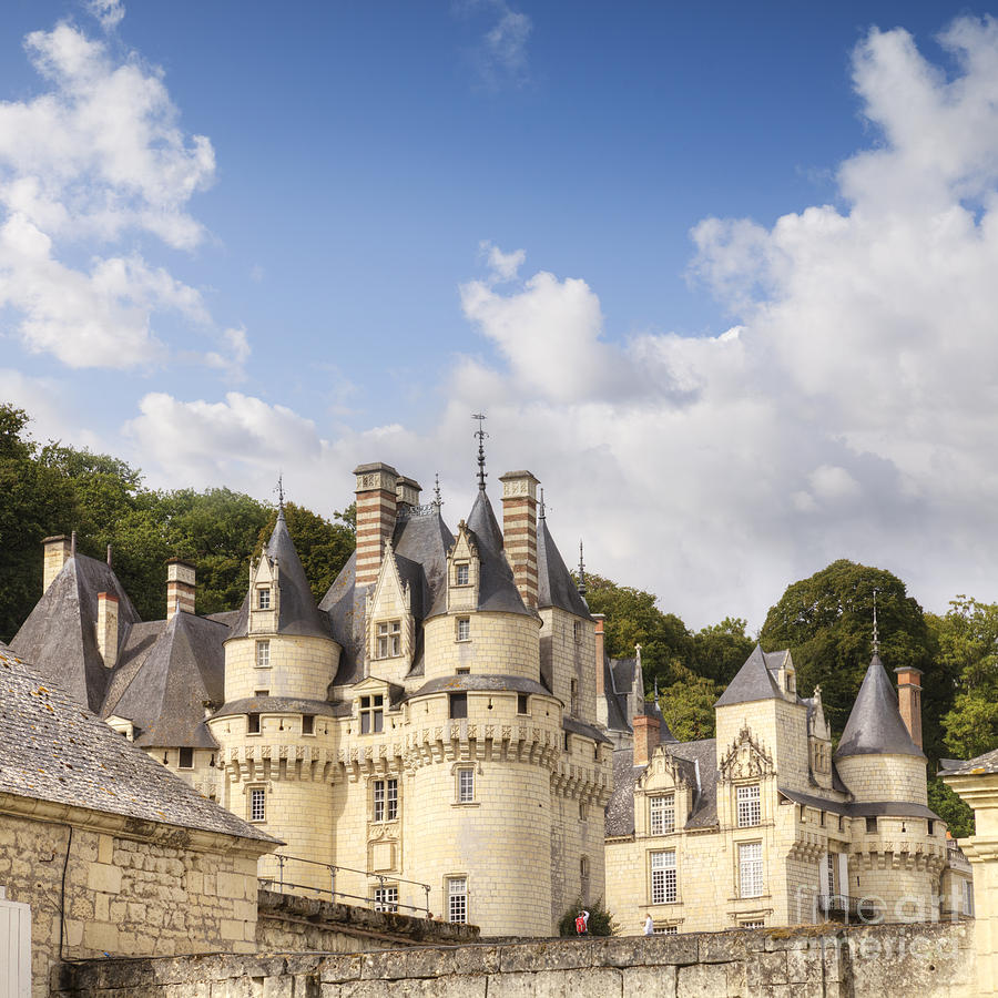 Architecture Photograph - Chateau Usse Loire Valley France by Colin and Linda McKie