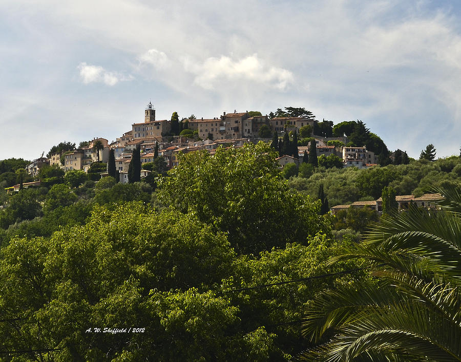Olive Mill Photograph - Chateauneuf Du Grasse by Allen Sheffield