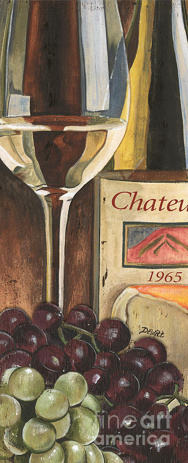 Grapes Painting - Chateux 1965 by Debbie DeWitt