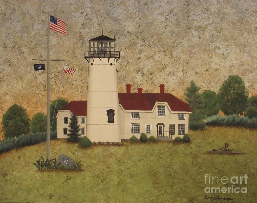 Cape Cod Painting - Chatham Light by Becky Humbarger