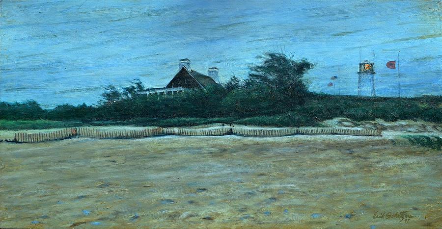 Chatham Painting - Chatham Lighthouse by Erik Schutzman