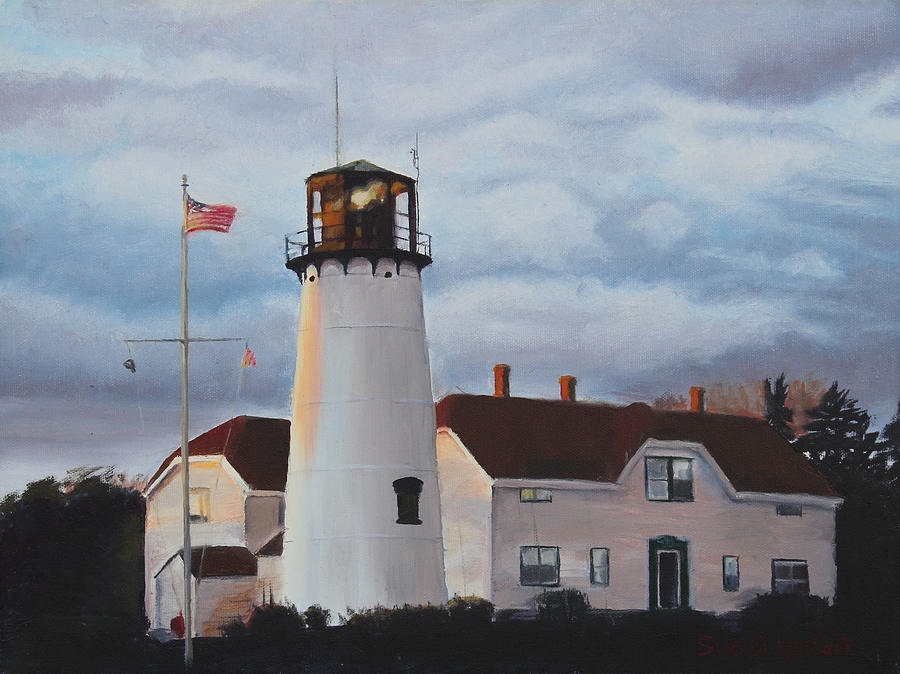 Lighthouse Painting - Chatham Lighthouse by Sue Birkenshaw