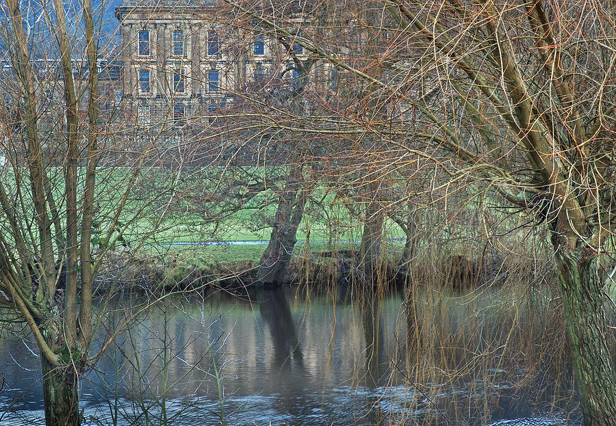 Rural Landscape Photograph - Chatsworth House December by Jerry Daniel