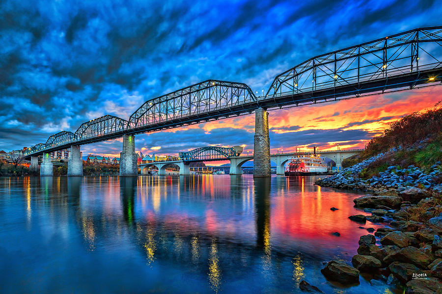 Chattanooga Photograph - Chattanooga Sunset 3 by Steven Llorca