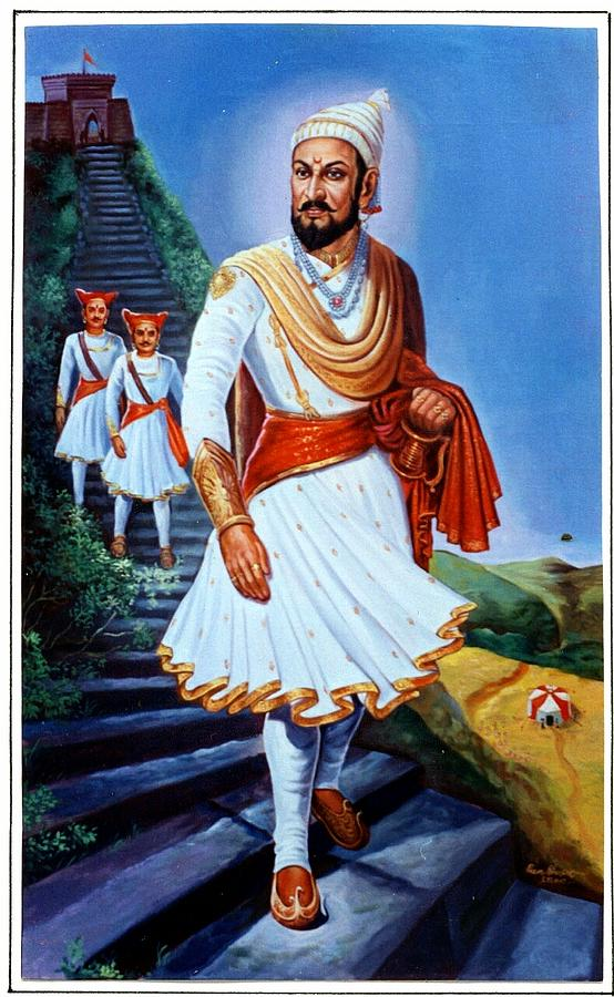 chattrapati shivaji maharaj pratapgad painting by prem bhavsar