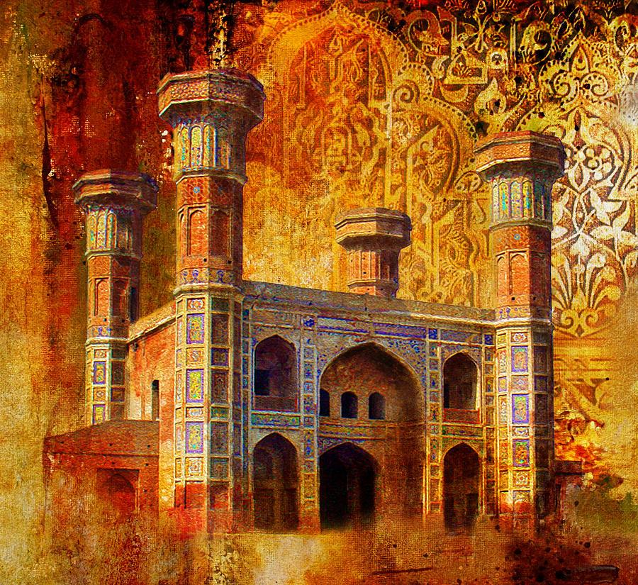 Pakistan Painting - Chauburji Gate by Catf