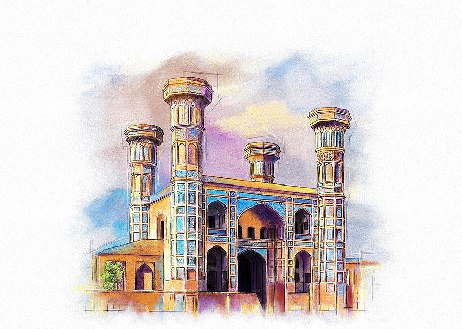 Pakistan Painting - Chauburji Lahore by Catf