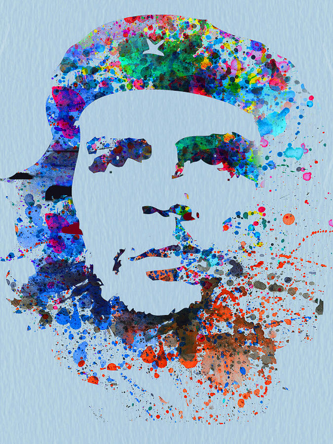 Che Guevara Painting - Che Guevara Watercolor by Naxart Studio