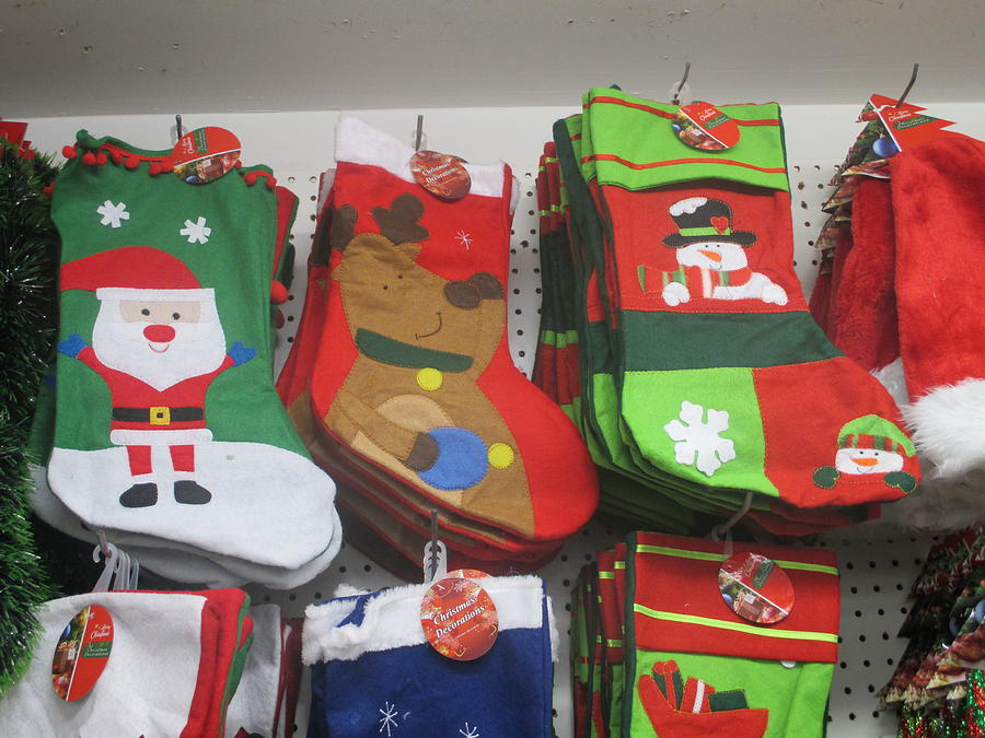 stockings photograph cheap christmas stockings at the dollar store by david lovins - 99 Cent Store Christmas Hours