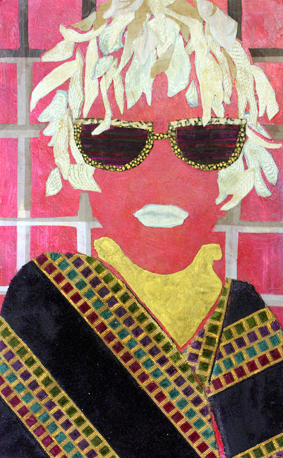 Acrylic Collage Mixed Media - Cheap Sunglasses by Diane Fine