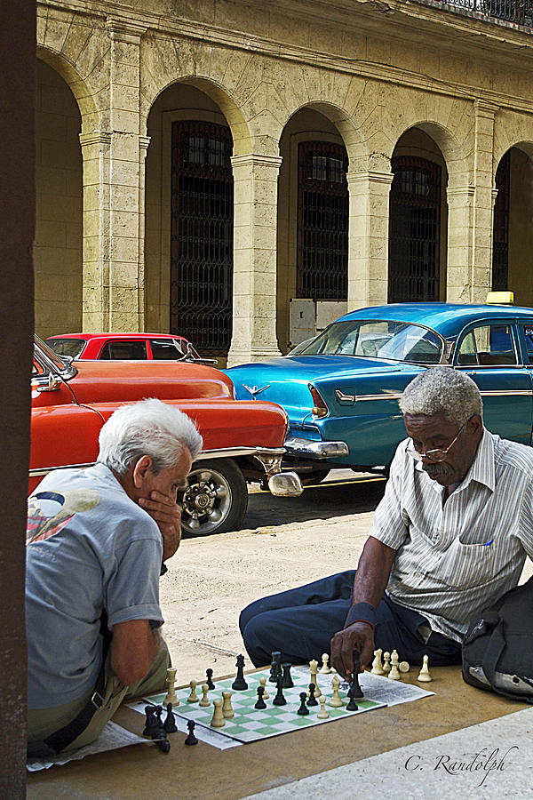 Cuba Photograph - Check Mate by Cheri Randolph
