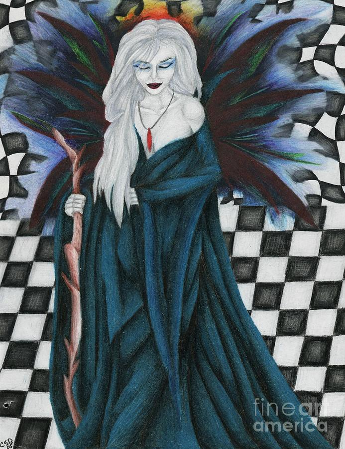 Checkerboard Drawing - Checkerboard Sorcery by Coriander  Shea