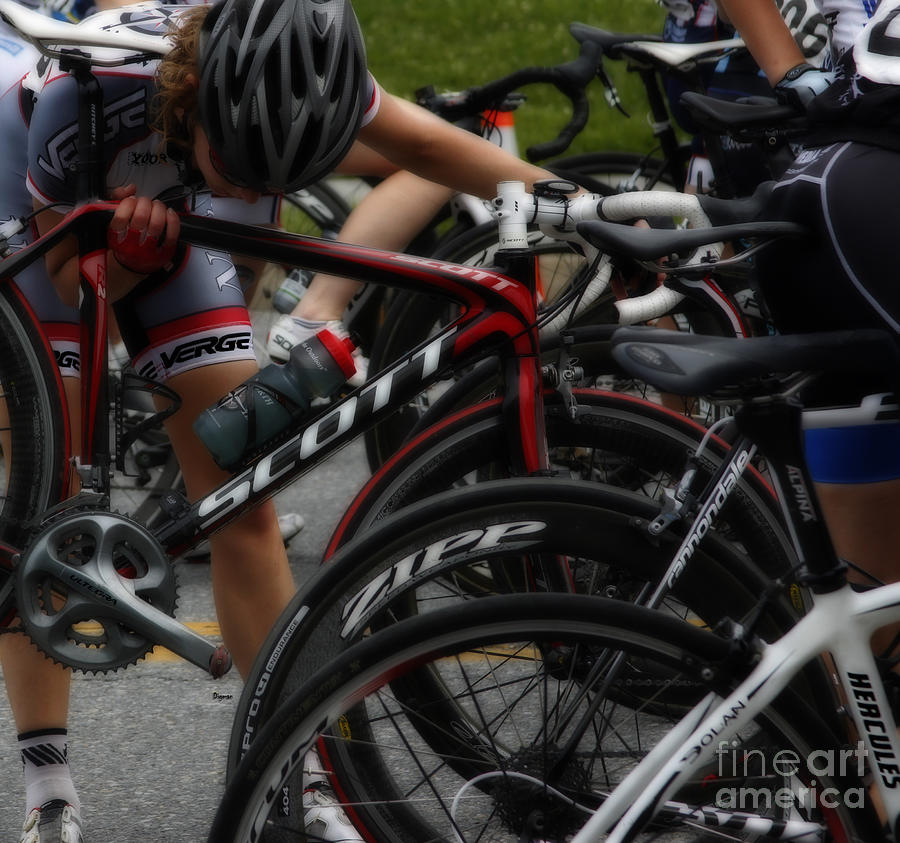 Bicycle Photograph - Checking Out Scott  by Steven Digman