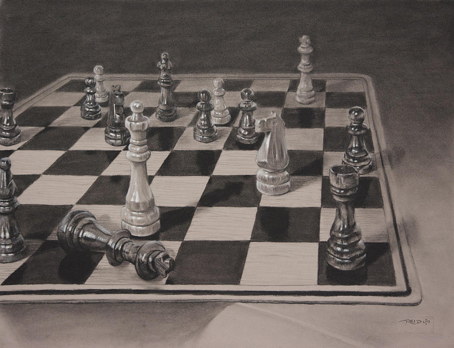 Checkmate Painting By Christopher Reid