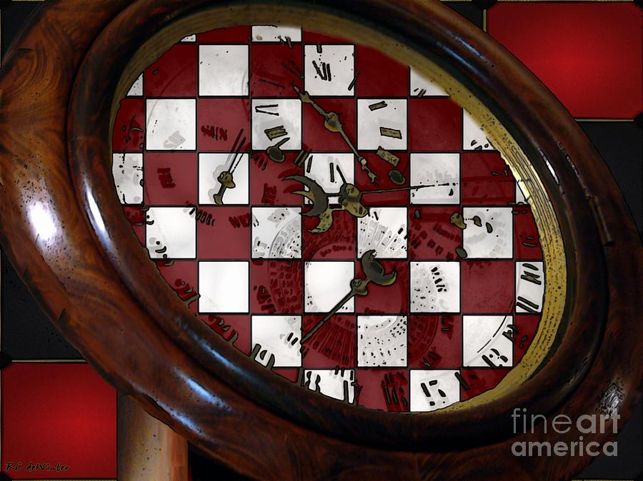 Antique Painting - Checkmate by RC DeWinter