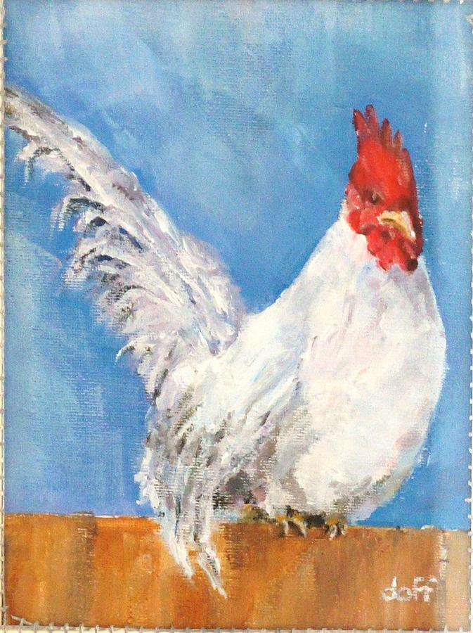Cheeky Cock Painting by David  Hawkins