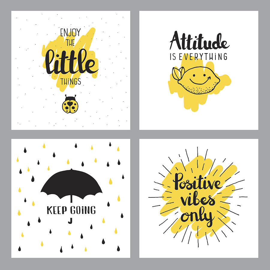 Cheerful quotes Drawing by Miakievy