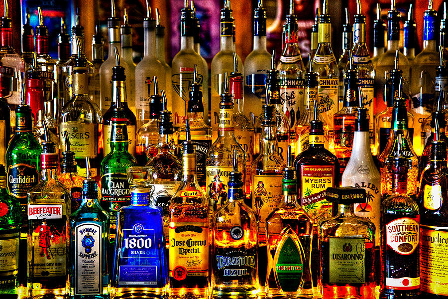 Booze Photograph - Cheers - Alcohol Galore by David Patterson