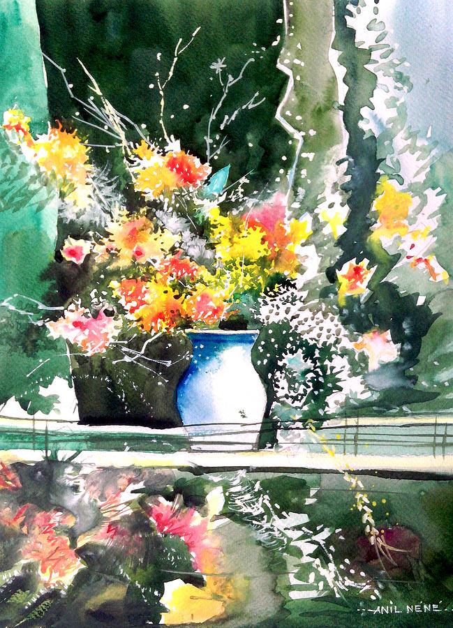 Nature Painting - Cheers by Anil Nene
